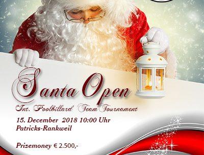 Anmeldung Santa OPEN 2018 OFFEN!!!